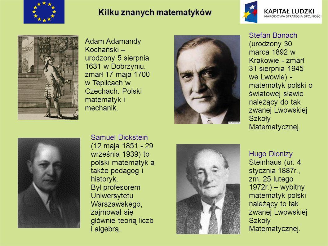 Kilku znanych matematyków