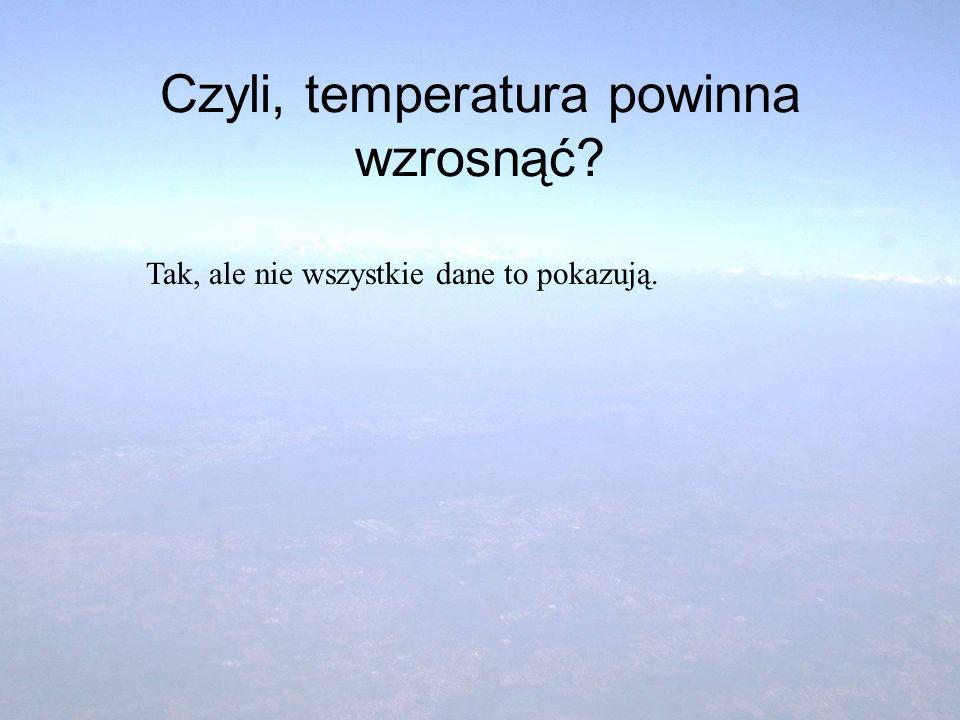 Czyli, temperatura powinna wzrosnąć