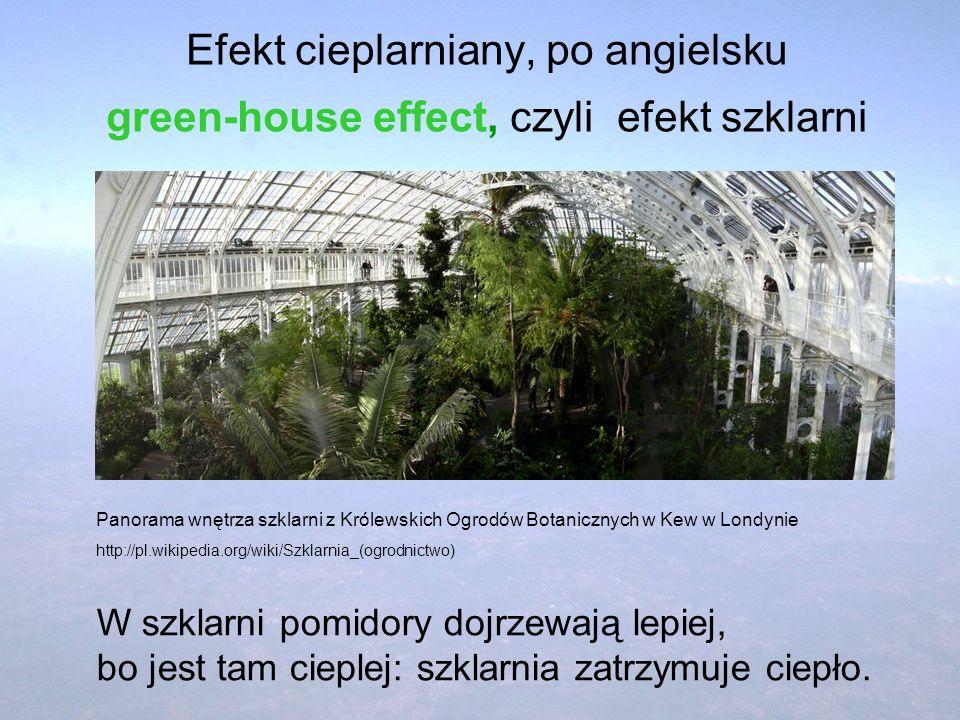 Efekt cieplarniany, po angielsku green-house effect, czyli efekt szklarni