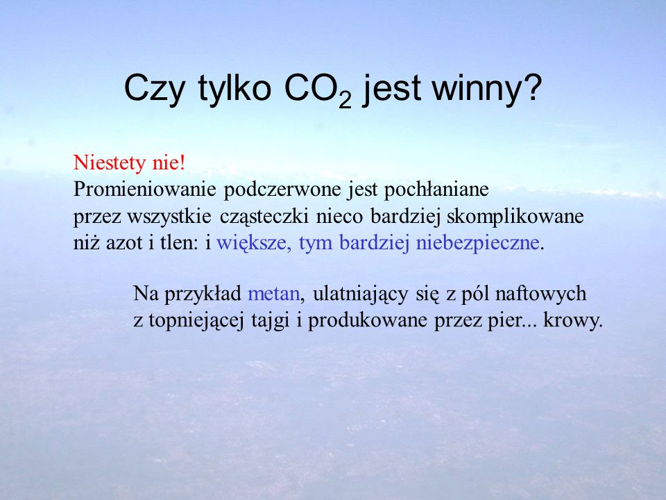 Czy tylko CO2 jest winny Niestety nie!