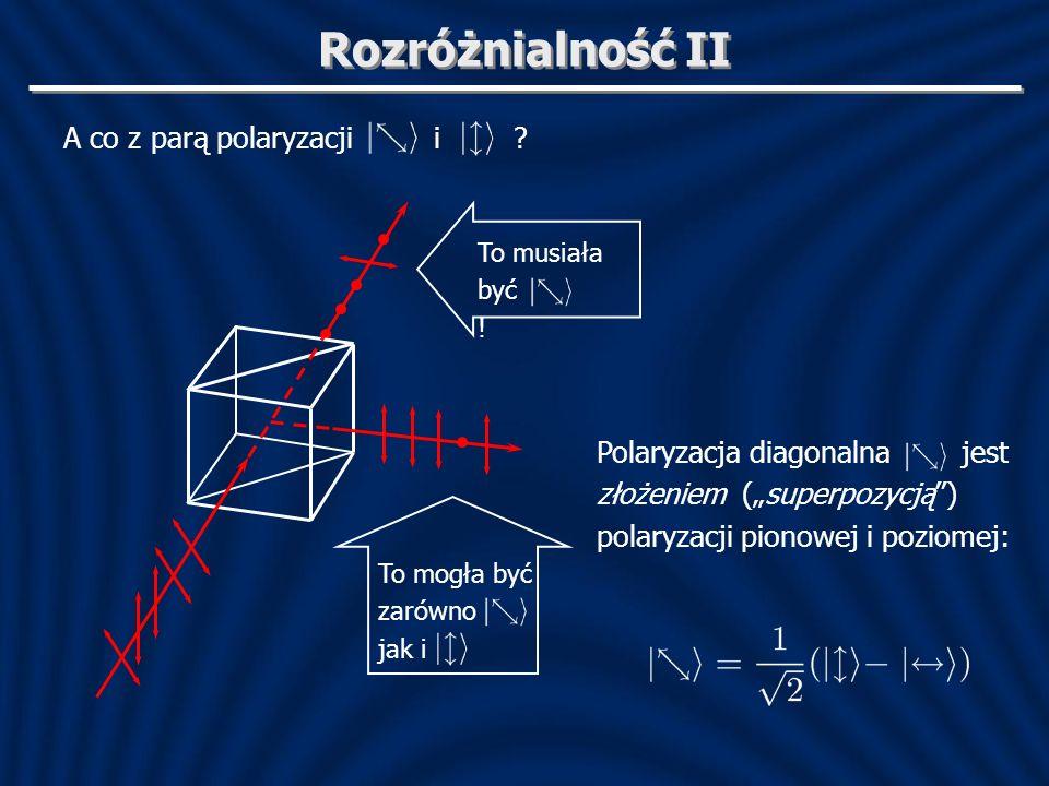 Rozróżnialność II A co z parą polaryzacji i