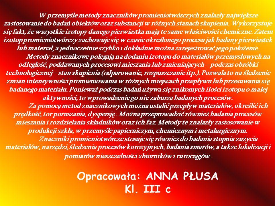 Opracowała: ANNA PŁUSA