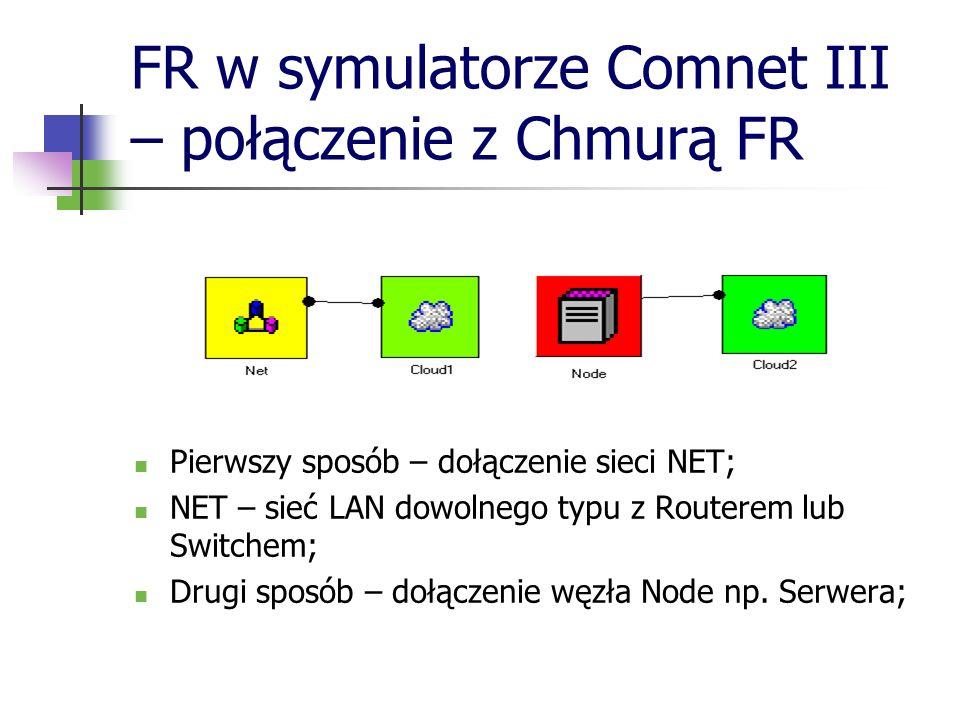 FR w symulatorze Comnet III – połączenie z Chmurą FR