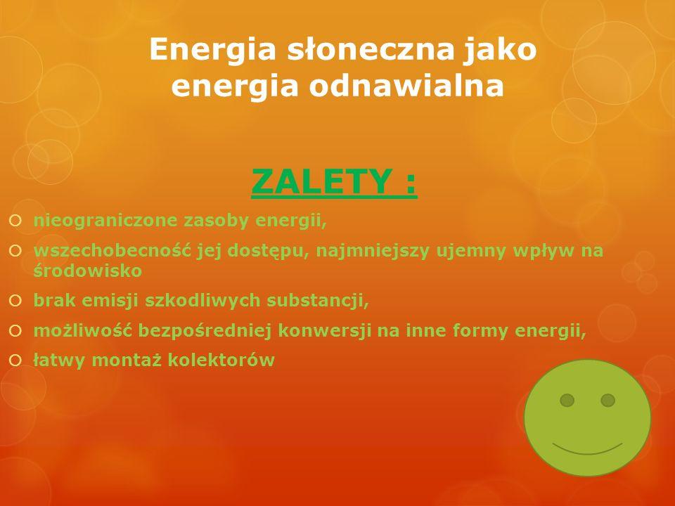 Energia słoneczna jako energia odnawialna