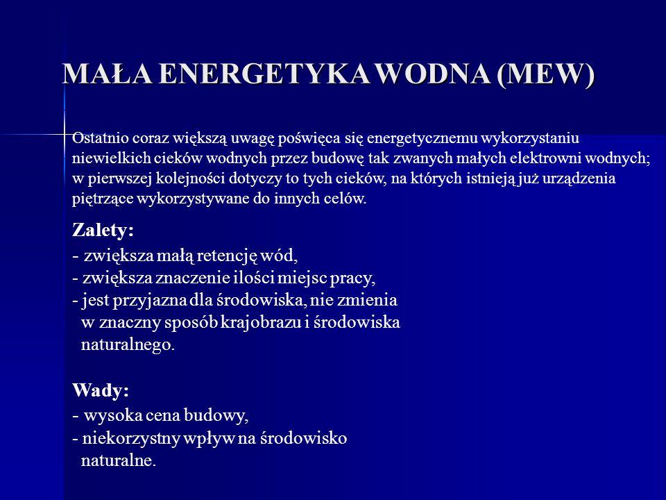 MAŁA ENERGETYKA WODNA (MEW)