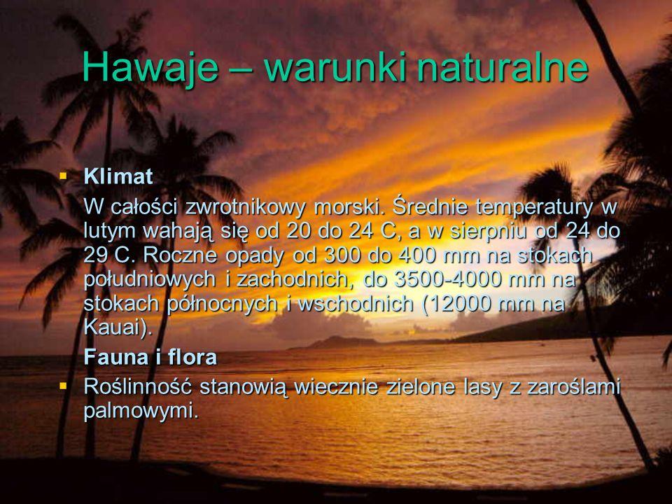 Hawaje – warunki naturalne