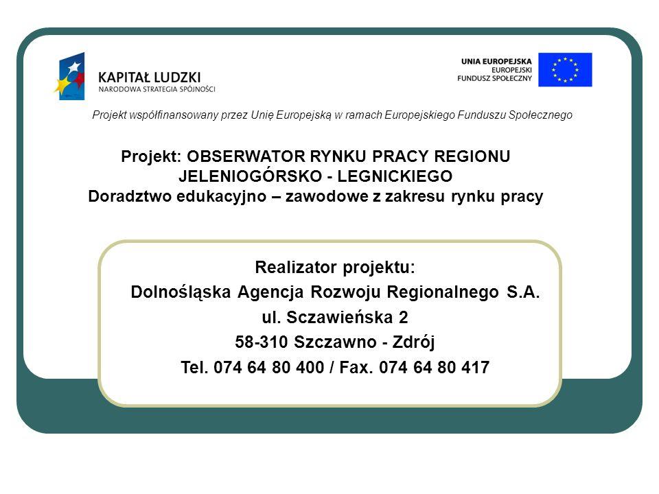 Dolnośląska Agencja Rozwoju Regionalnego S.A. ul. Sczawieńska 2