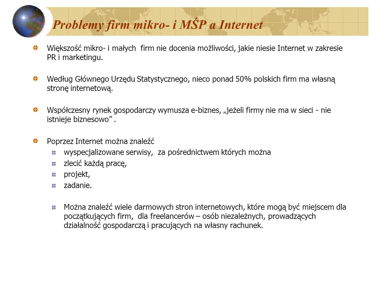 Problemy firm mikro- i MŚP a Internet