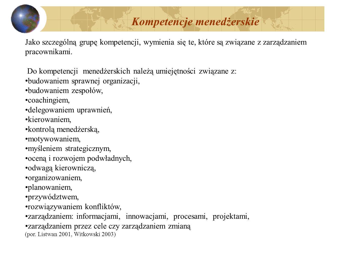 Kompetencje menedżerskie