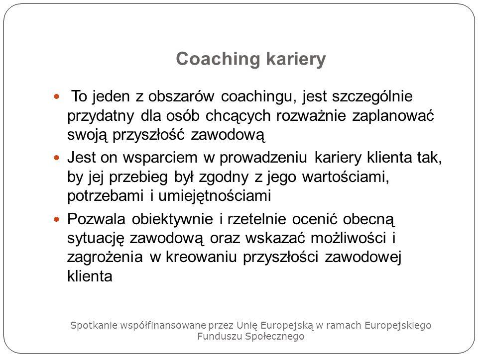 Coaching kariery To jeden z obszarów coachingu, jest szczególnie przydatny dla osób chcących rozważnie zaplanować swoją przyszłość zawodową.