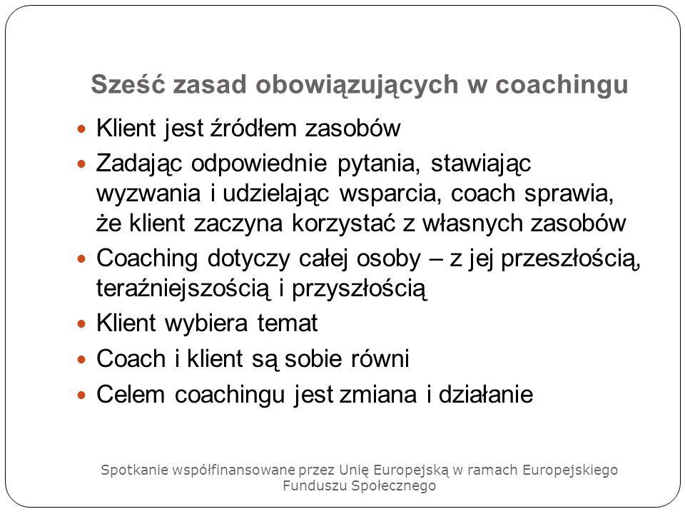 Sześć zasad obowiązujących w coachingu