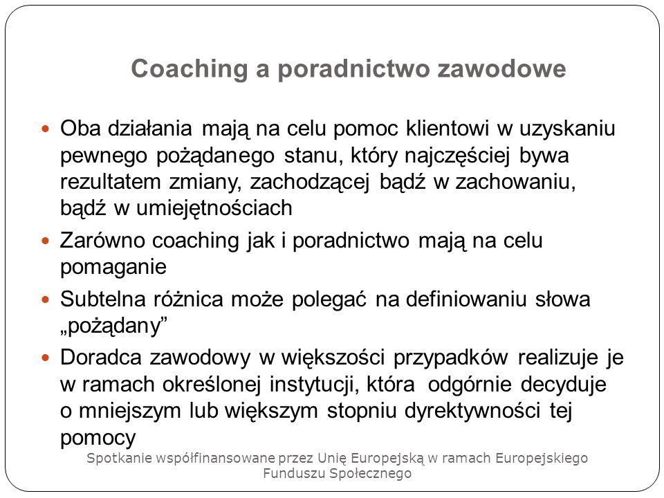 Coaching a poradnictwo zawodowe