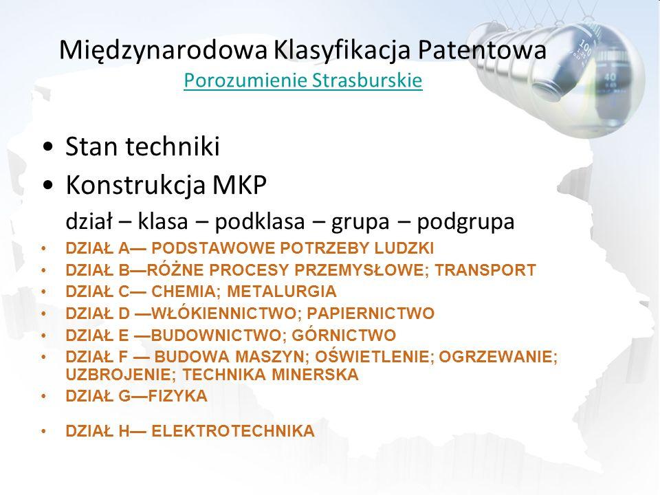 Międzynarodowa Klasyfikacja Patentowa Porozumienie Strasburskie
