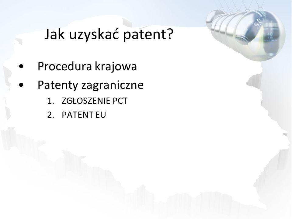 Jak uzyskać patent Procedura krajowa Patenty zagraniczne