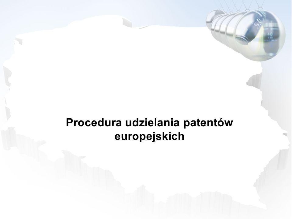 Procedura udzielania patentów europejskich