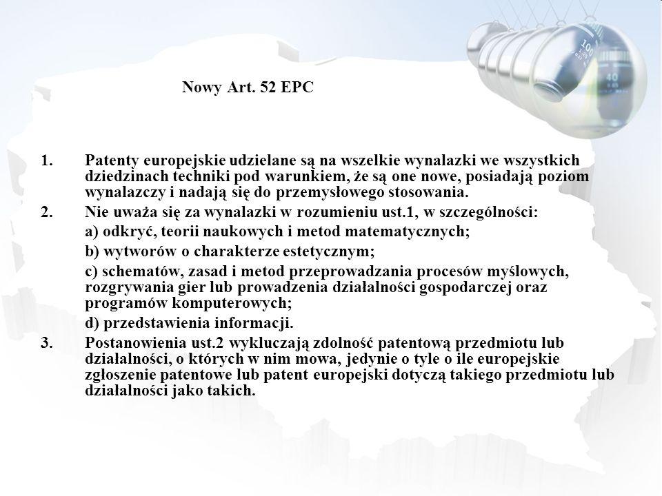 Nowy Art. 52 EPC