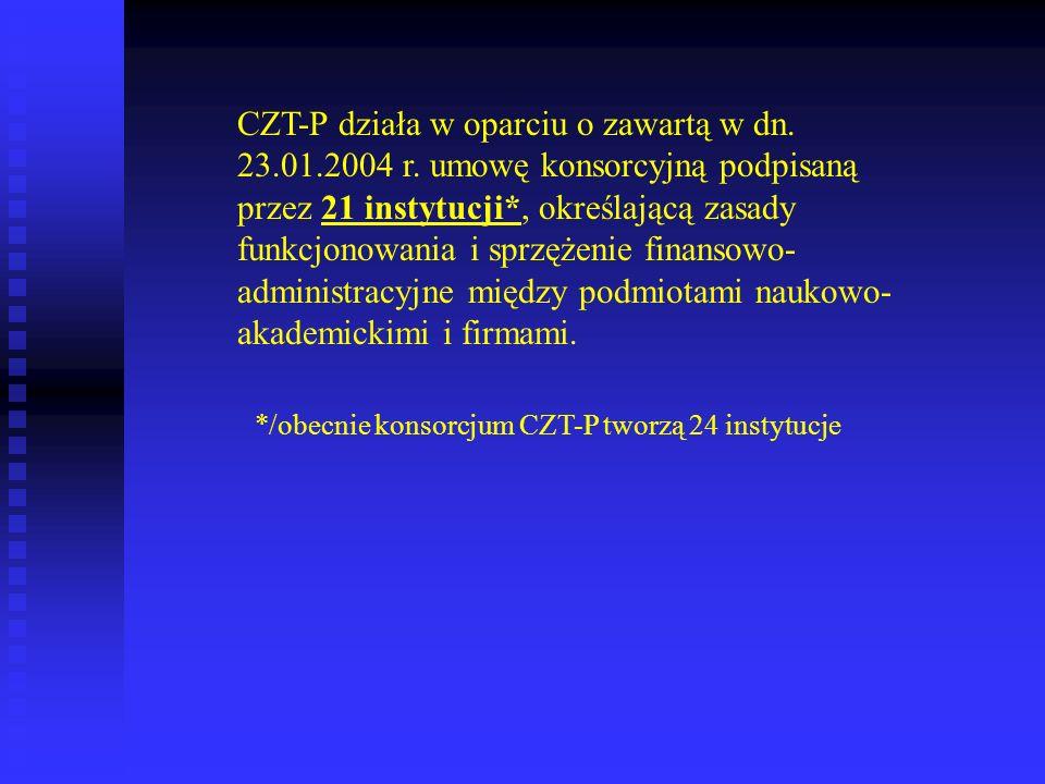 CZT-P działa w oparciu o zawartą w dn. 23. 01. 2004 r