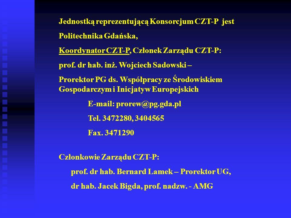 Jednostką reprezentującą Konsorcjum CZT-P jest