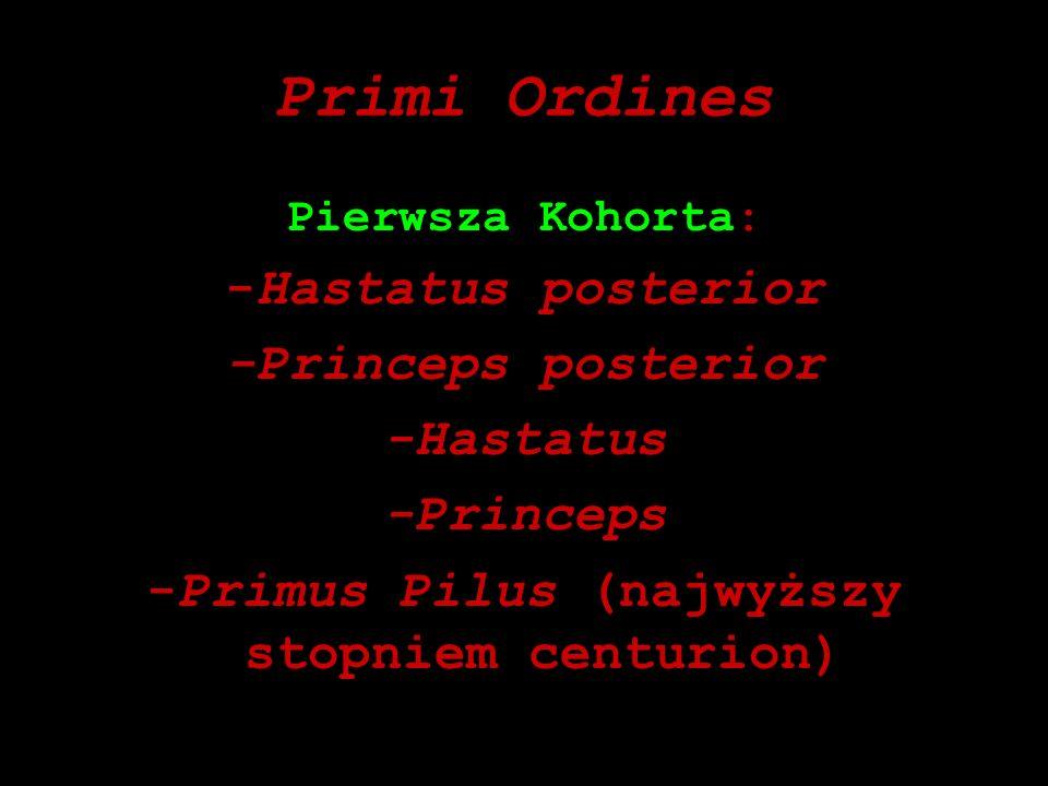 -Primus Pilus (najwyższy stopniem centurion)
