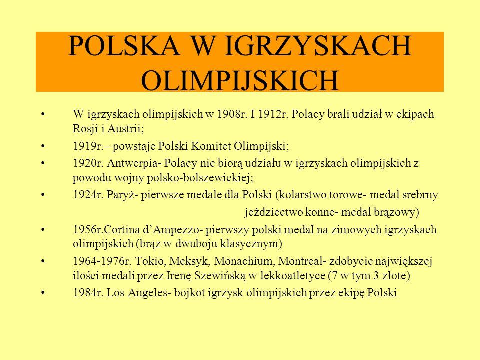POLSKA W IGRZYSKACH OLIMPIJSKICH