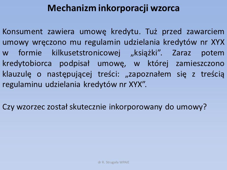 Mechanizm inkorporacji wzorca