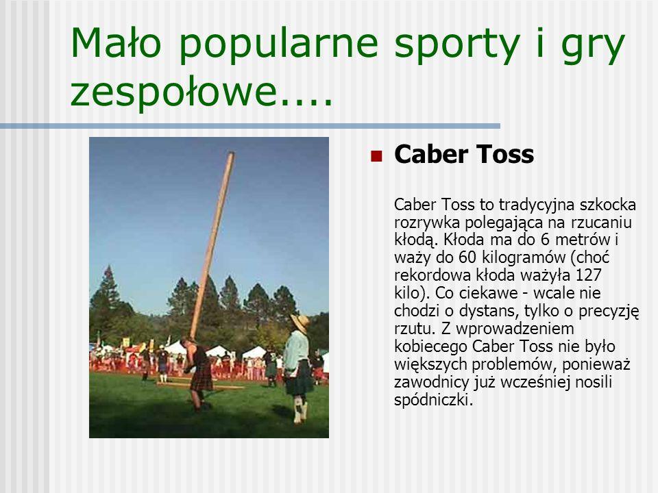Mało popularne sporty i gry zespołowe....