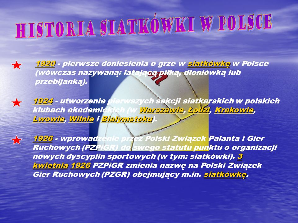 Historia siatkówki w Polsce