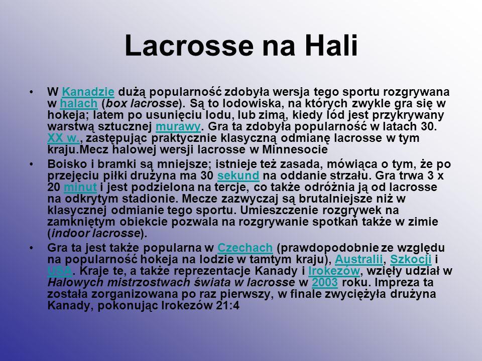 Lacrosse na Hali