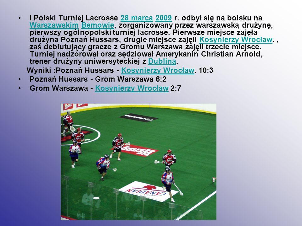 I Polski Turniej Lacrosse 28 marca 2009 r