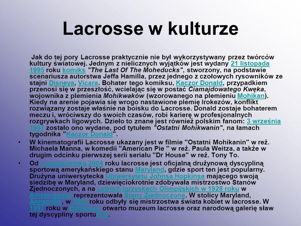 Lacrosse w kulturze