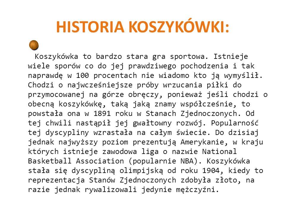 HISTORIA KOSZYKÓWKI: