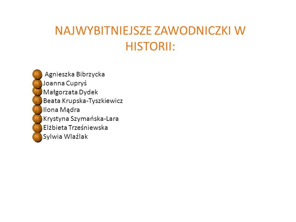 NAJWYBITNIEJSZE ZAWODNICZKI W HISTORII: