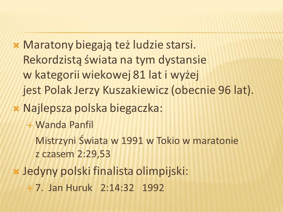 Najlepsza polska biegaczka: