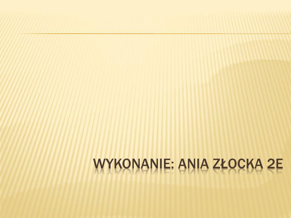 Wykonanie: Ania Złocka 2E