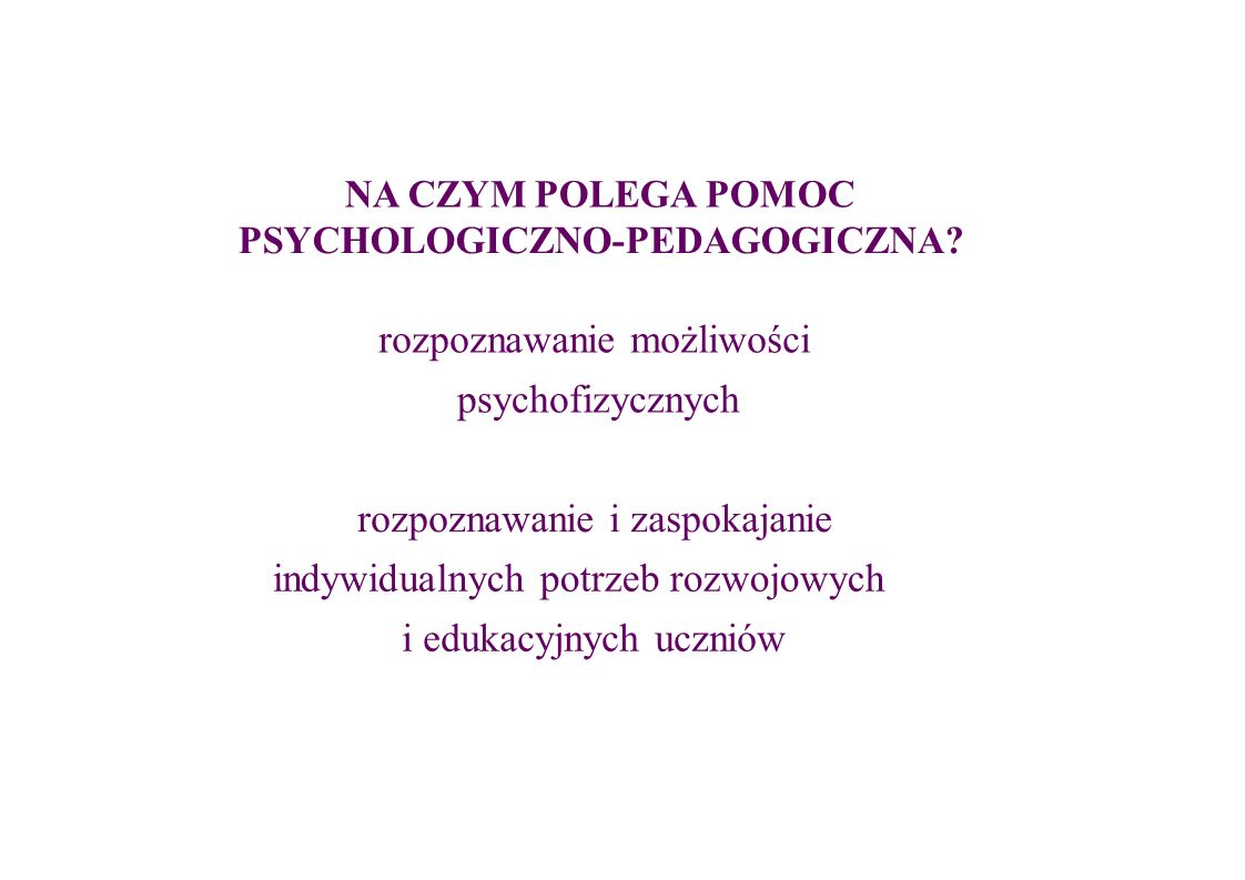 rozpoznawanie możliwości psychofizycznych