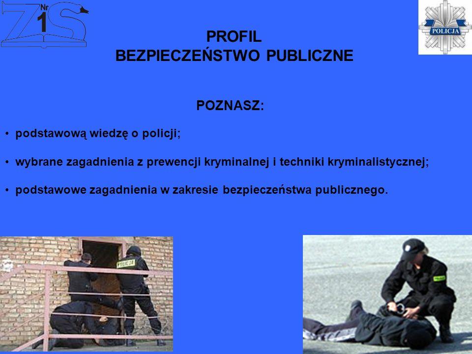 PROFIL BEZPIECZEŃSTWO PUBLICZNE