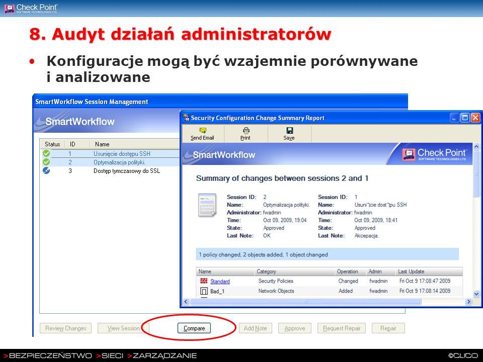 8. Audyt działań administratorów