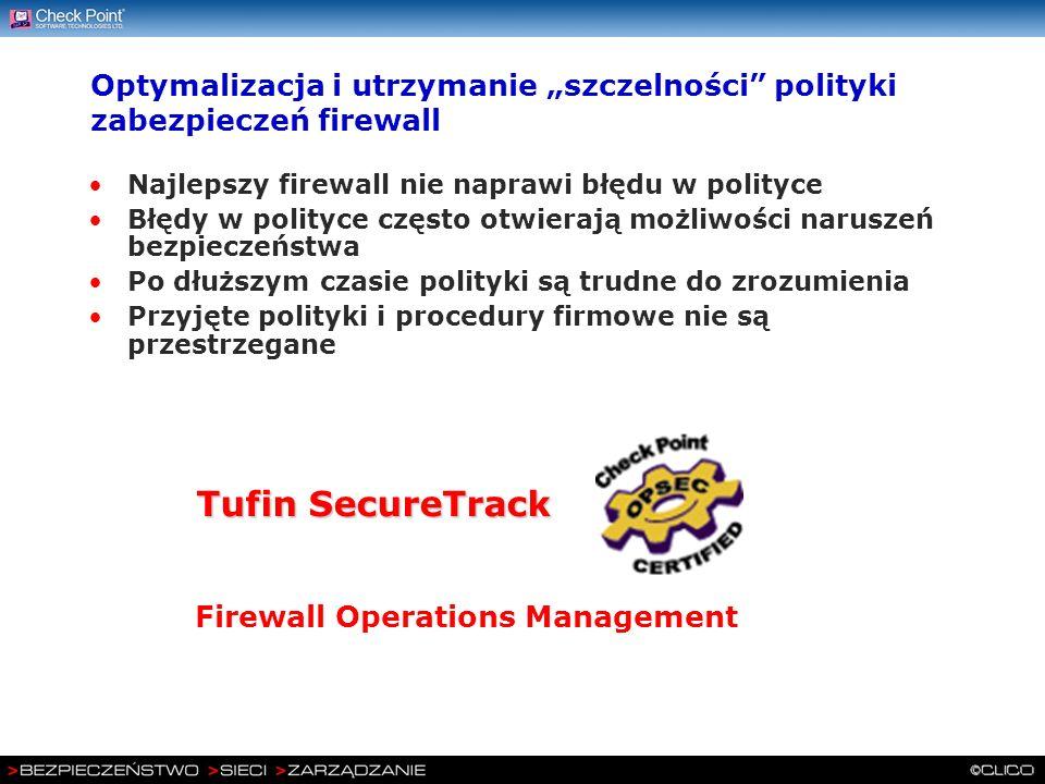 """Optymalizacja i utrzymanie """"szczelności polityki zabezpieczeń firewall"""