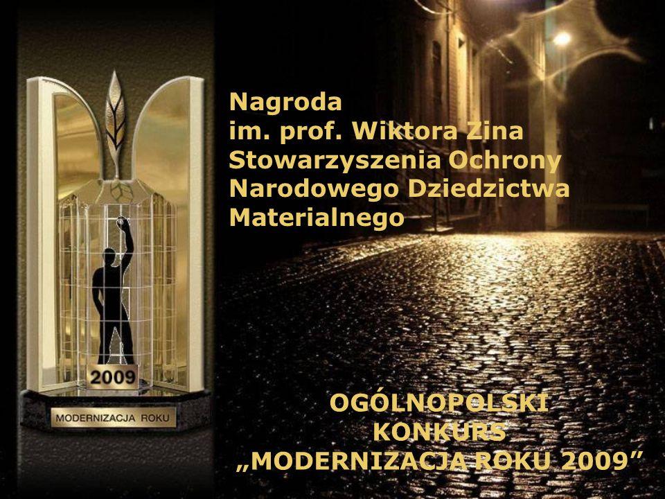 Nagroda im. prof. Wiktora Zina. Stowarzyszenia Ochrony. Narodowego Dziedzictwa. Materialnego. OGÓLNOPOLSKI.