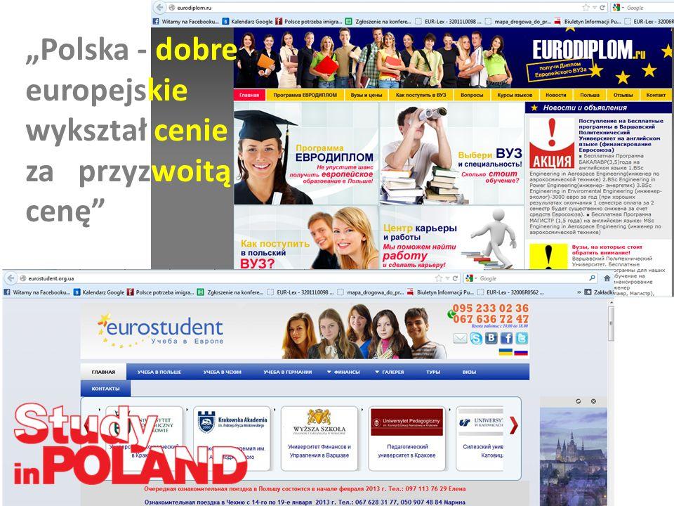 """""""Polska - dobre europejskie wykształ cenie za przyzwoitą cenę"""