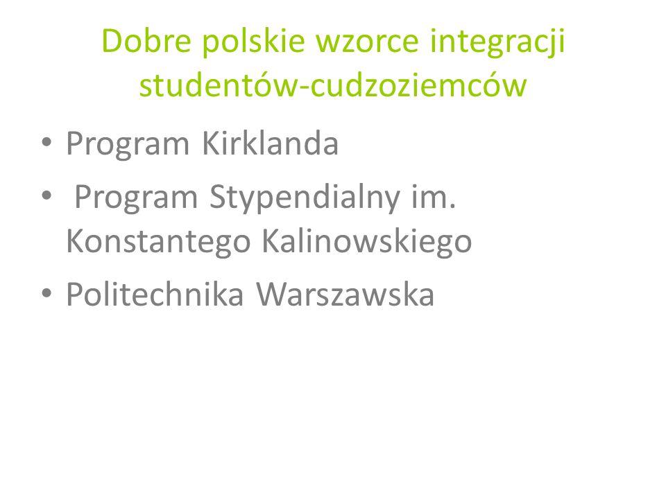 Dobre polskie wzorce integracji studentów-cudzoziemców