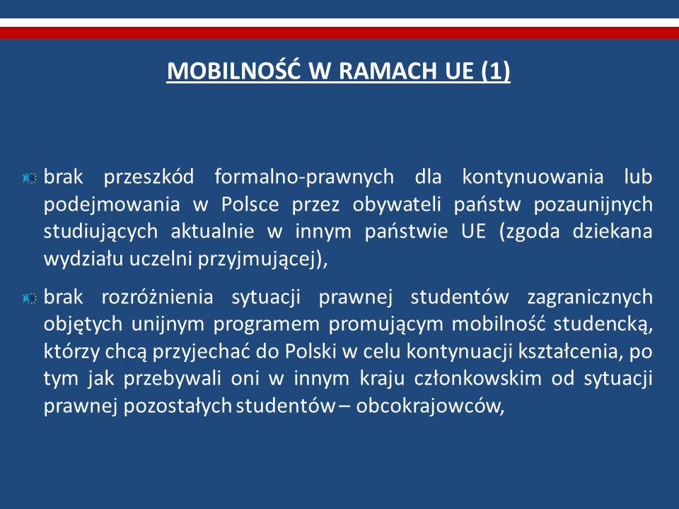 MOBILNOŚĆ W RAMACH UE (1)