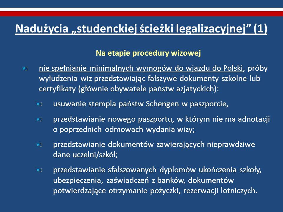 """Nadużycia """"studenckiej ścieżki legalizacyjnej (1)"""