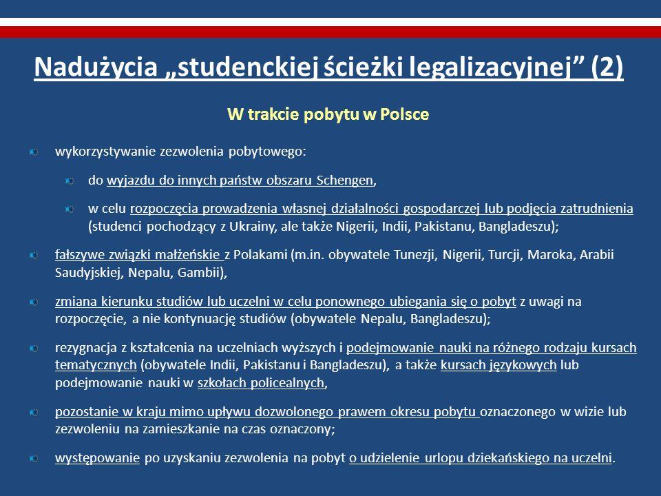 """Nadużycia """"studenckiej ścieżki legalizacyjnej (2)"""