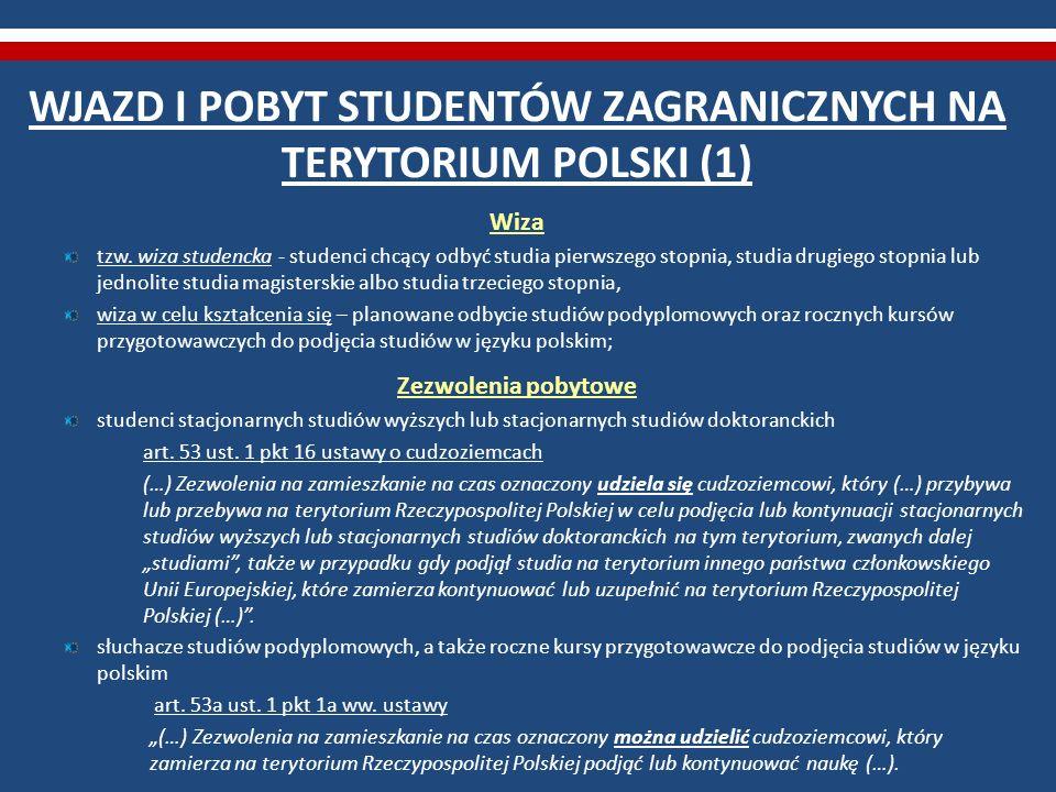 WJAZD I POBYT STUDENTÓW ZAGRANICZNYCH NA TERYTORIUM POLSKI (1)