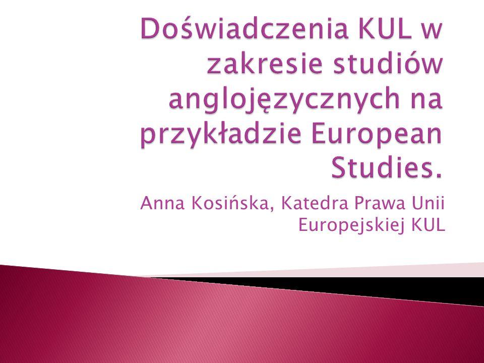 Anna Kosińska, Katedra Prawa Unii Europejskiej KUL