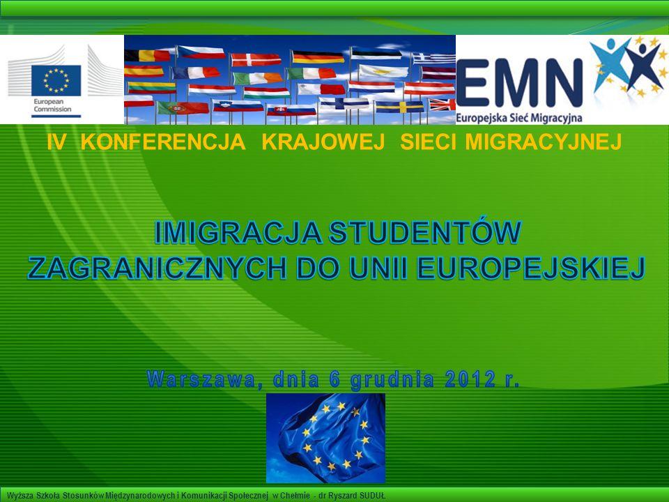 IMIGRACJA STUDENTÓW ZAGRANICZNYCH DO UNII EUROPEJSKIEJ