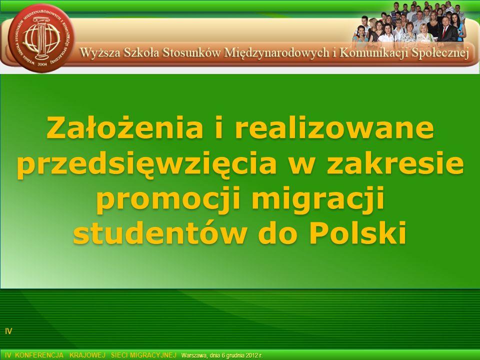Założenia i realizowane przedsięwzięcia w zakresie promocji migracji studentów do Polski