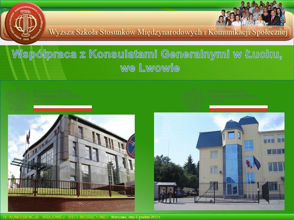 Współpraca z Konsulatami Generalnymi w Łucku,