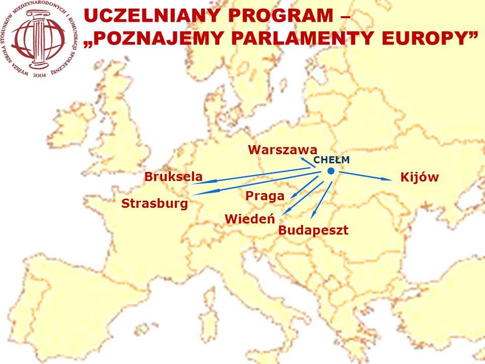 "UCZELNIANY PROGRAM – ""POZNAJEMY PARLAMENTY EUROPY"